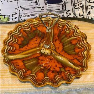 Vintage Autumn serving plate